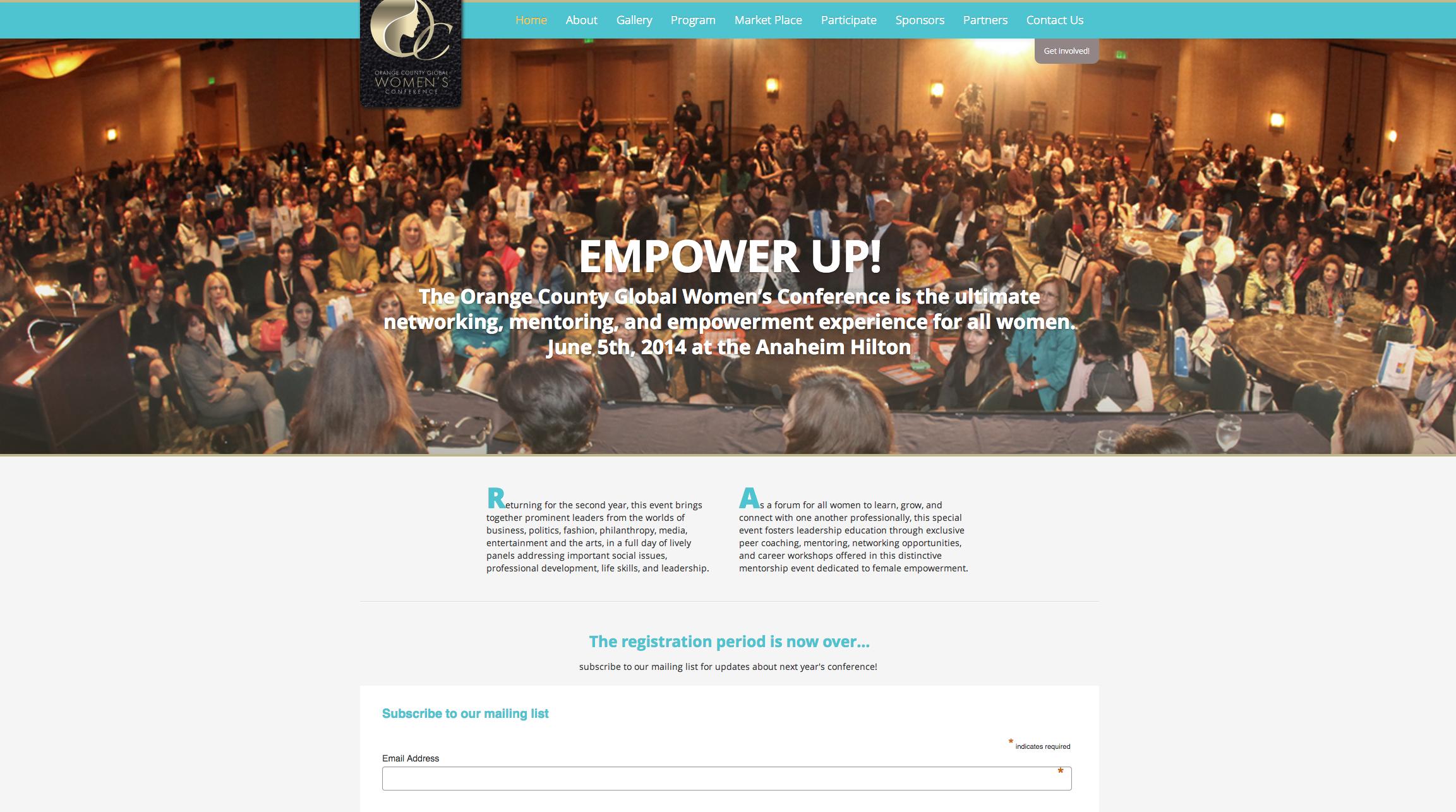 OC Global Women's Conference Web Design